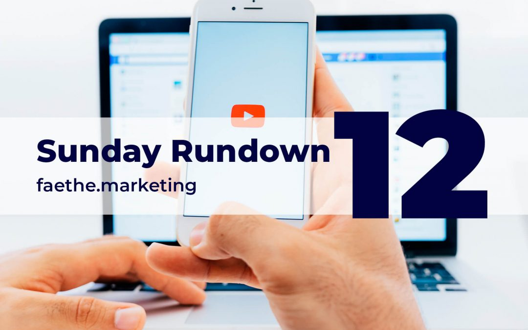 Sunday Rundown #12 – COPPA vs. YouTube creators