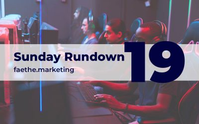 Sunday Rundown #19 – YouTube streaming e-sports