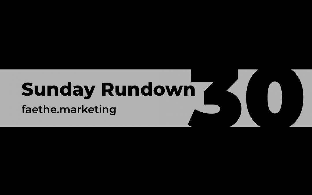 Sunday Rundown #30 – Blackout Tuesday