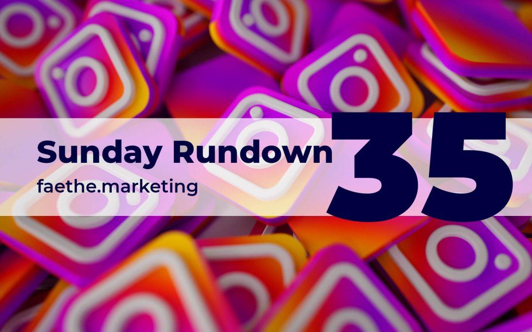 Sunday Rundown #35 – Get your news on Instagram