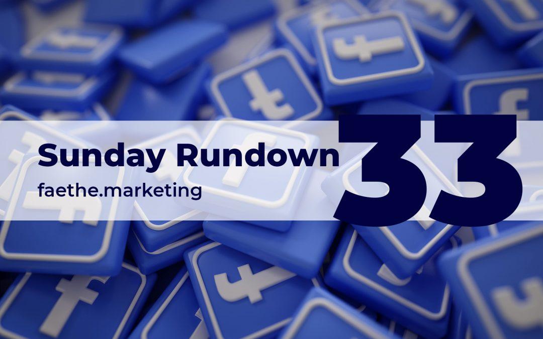 Sunday Rundown #33 – A boycott against Facebook