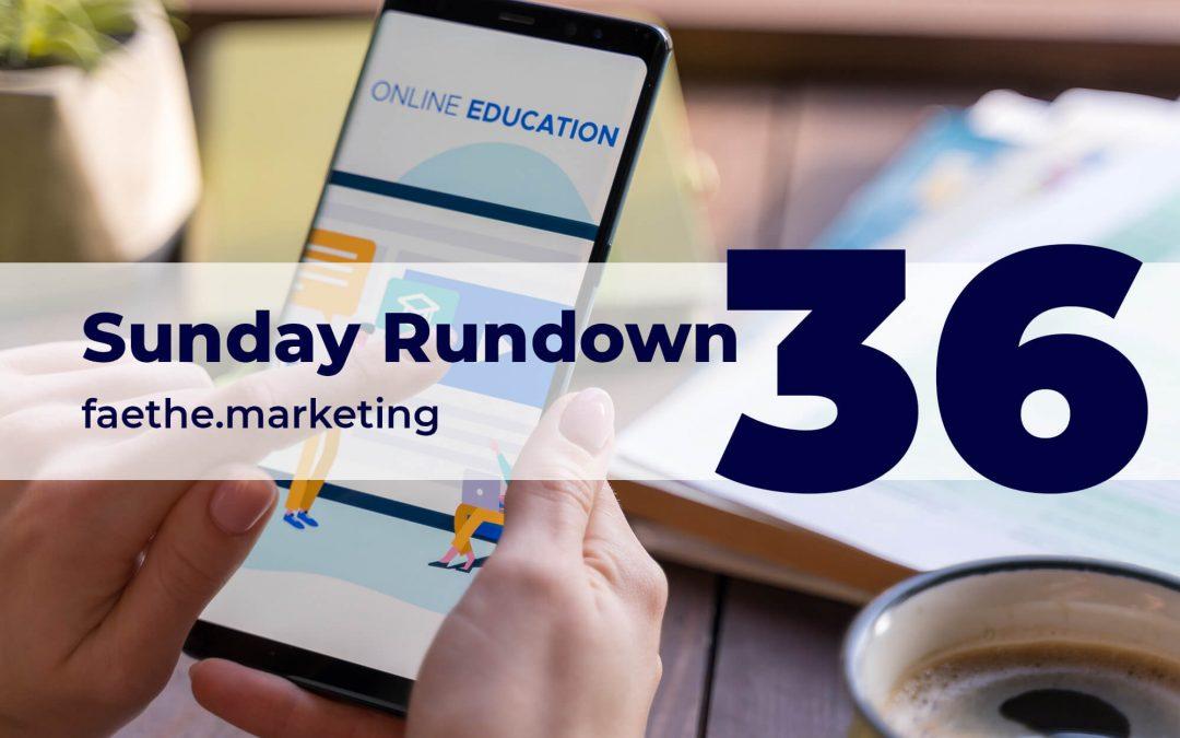 Sunday Rundown #36 – Google with 100k scholarships
