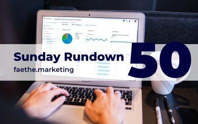 Sunday Rundown #50 – New Google Analytics