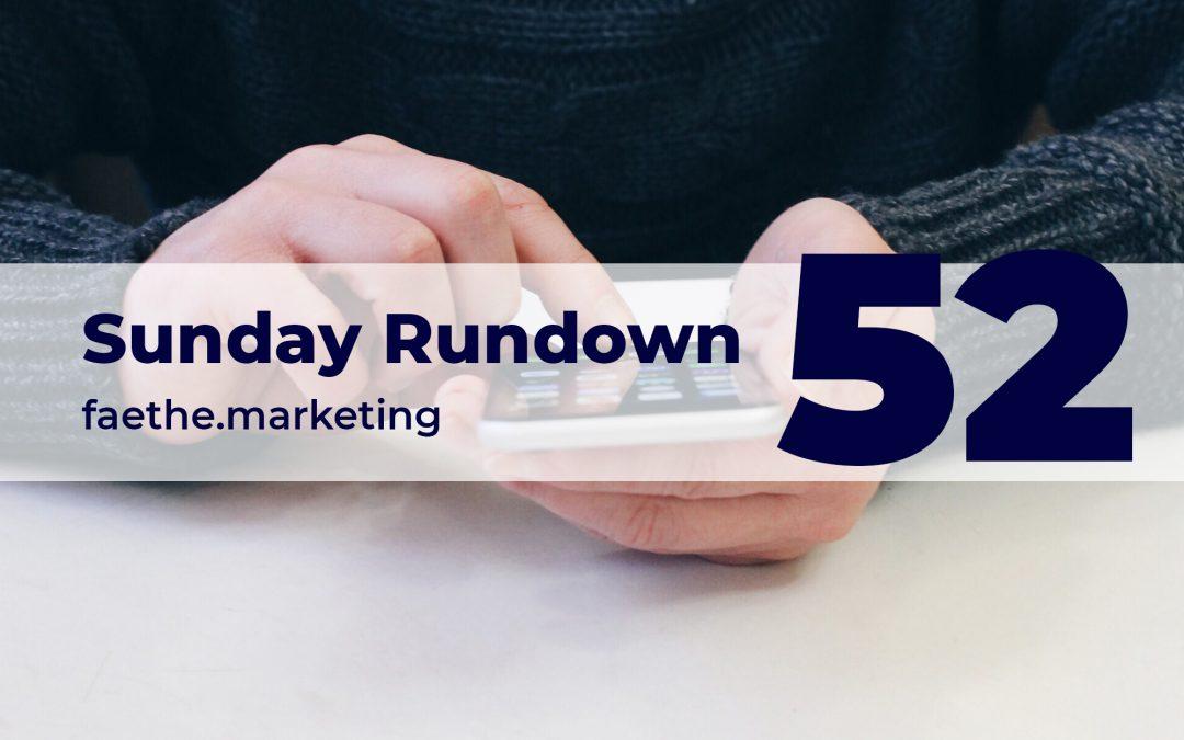 Sunday Rundown #52